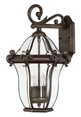 (Hinkley 2444CB Traditional Three Light Wall Mount from San Clemente collection in Copperfinish,)