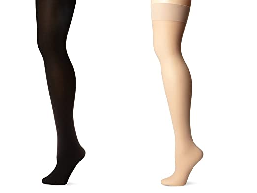 skinny women s nylon and cotton stockings stock1 black and beige