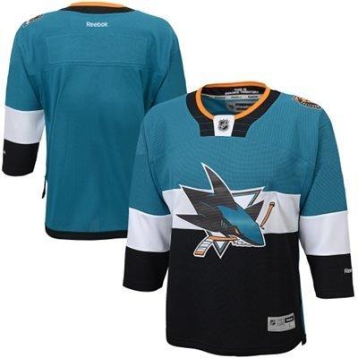 Reebok Stadium Series Edge Premier Youth Hockey Jersey - San Jose Sharks, Large/X-Large, Turquoise ()