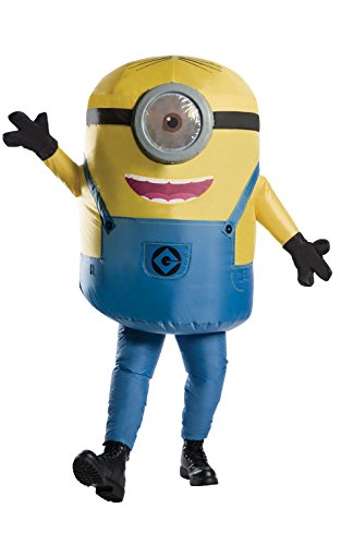 Rubie's Costume CO Men's Minions Inflatable Minion Stuart Costume, Yellow, Standard (Costume For Adult)