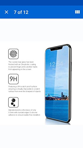 iPhone X Screen Protector, Arctic iPhone X Tempered Glass[ Full Coverage ] [0.26mm 3D] [Bubble-Free] [9H Hardness] [Easy Installation] Screen Protector for Apple iPhone X (HD)