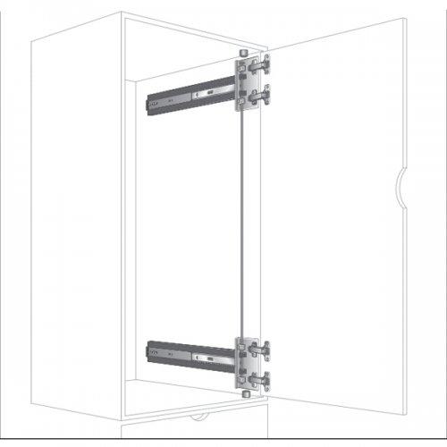 KV Self Closing X-Thick Door Hinge Kit 8080/8092 Pocket Door