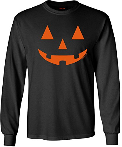 JACK O' LANTERN PUMPKIN Halloween Black Long Sleeve T-Shirt-XL