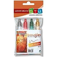 4 Crayons pour Bougie - Cire liquide