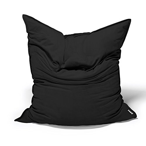 Jaxx Bean Bags Saxx Velvet Twill Bean Bag Floor Pillow, 3.5-Feet, Black by Jaxx Bean Bags