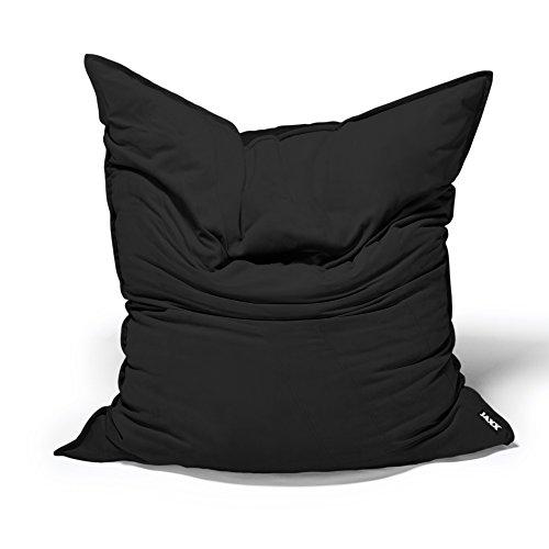 Jaxx Bean Bags Saxx Velvet Twill Bean Bag Floor Pillow, 3.5-Feet, Black Bean Bag Black Velvet