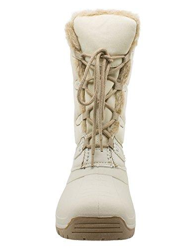 Kefas - Umiak 3129 - Damenstiefel Winterschuhe Schneestiefel chausson amovible en feutre Beige