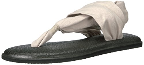 Sanuk Women's Yoga Sling 2 Print Vintage Flip Flop, Light Natural, 8 M US
