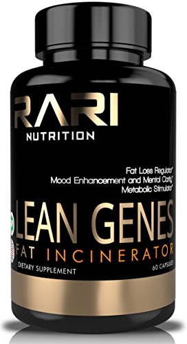 RARI Nutrition - Lean Genes 100% Natural Fat Burner and Thermogenic - Men and Women - No Shakes or Jitters - Easy to Swallow Vegetable Capsules - 60 Count