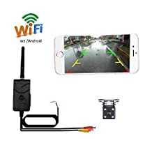 Camecho Wifi Video Transmitter with Car Backup Camera Mini Size Waterproof Night Vision Compatible For Ios Android System
