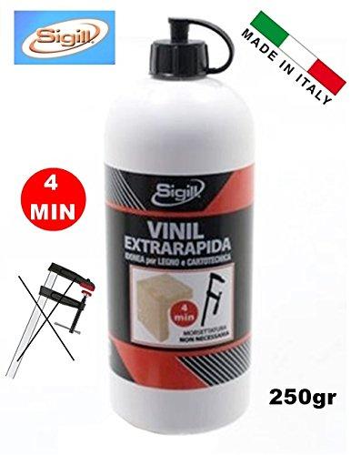 COLLA VINILICA VINIL EXTRA RAPIDA (4 MIN.) X LEGNO E CARTOTECNICA 250gr 'SIGILL' PIGAL