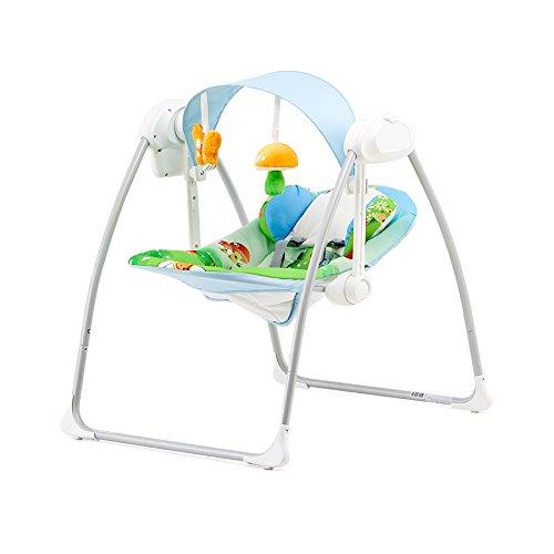 Chipolino CHIPLSHSO0141MU Elektrische Babyschaukel und -wippe - Sonata, pilze