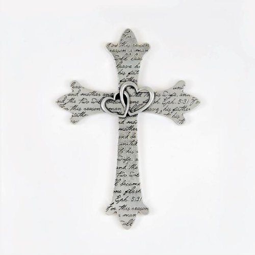 Wedding Wall Cross by Pewter