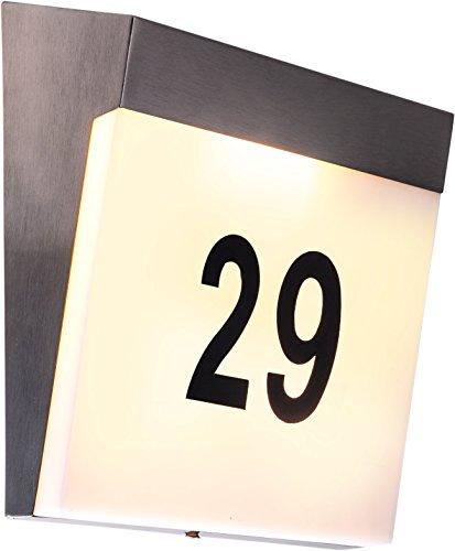 HEITRONIC Hausnummernleuchte KELLI Hausnummer beleuchtet