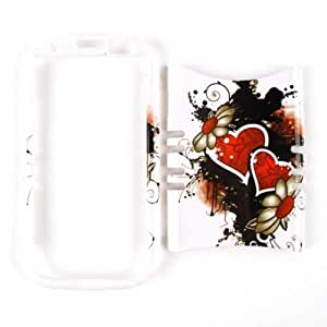 Cell Armor I747-RSNAP-WF1936 Rocker Snap-On Case for Samsung Galaxy S3 I747 - Retail Packaging - Wild Twin Hearts and Flowers