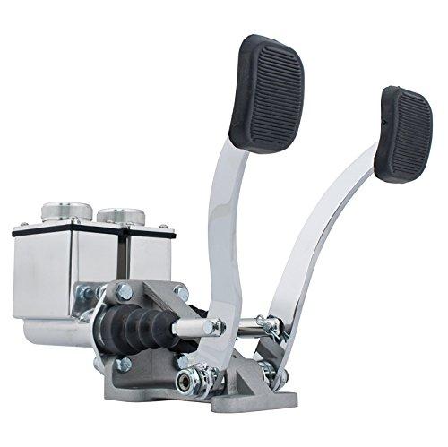 EMPI 16-2530-0 RACE TRIM Dual Pedal Assembly, 3/4 Clutch - 7/8 Brake, Polished
