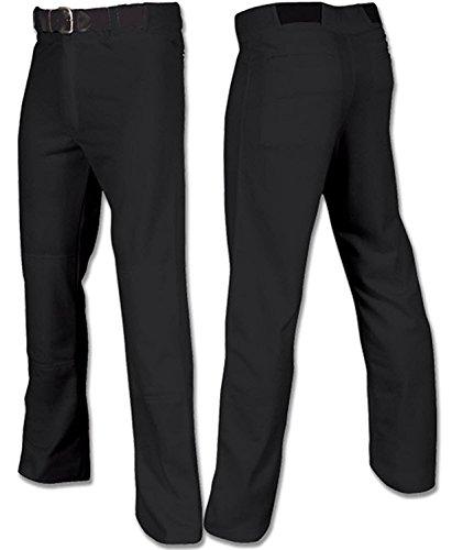 Joe's USA Open Bottom Relaxed Fit Baseball Pants - (Black Adult Large)
