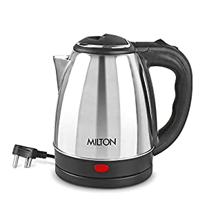 Milton Insta Electric 1500 Stainless Steel Kettle, 1.5 Litres, Silver