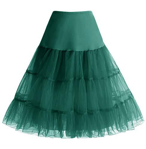 HomRain 1950 Petticoat Vintage Retro Unterrock Reifrock Underskirt Crinoline für Rockabilly Kleid Festliche Damenrock