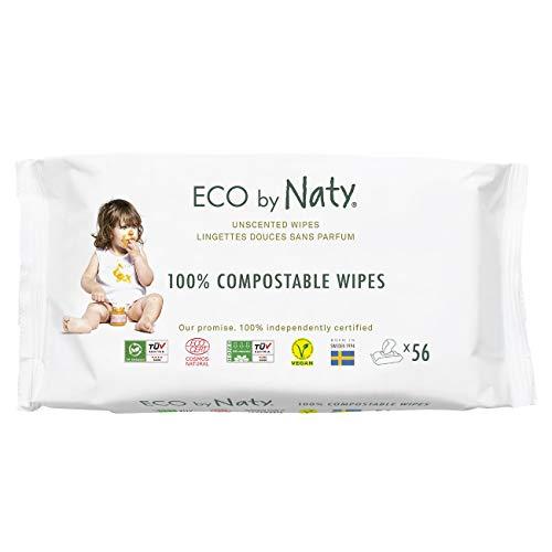 Eco By Naty, Parfumvrij, 672 Stuks (12 X 56 Doekjes), Plantaardige Composteerbare Vochtige Babydoekjes, 0% Plastic Op De…