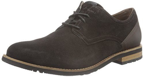 Rockport Ledge Hill Too Plain Toe Blucher, Zapatos de Cordones Derby para Hombre Chocolate