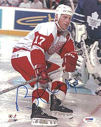 Brett Hull Signed Red Wings - Brett Hull Signed 8x10 Photo Red Wings - PSA/DNA Authentication - NHL Hockey Photos