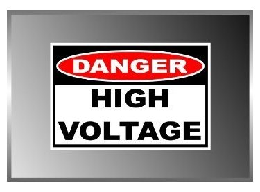 - 3 Pack - High Voltage Danger Sign Warning Label Vinyl Decal Bumper Sticker