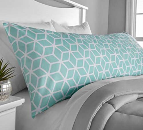 (Microfiber Body Pillow Cover - Mint)