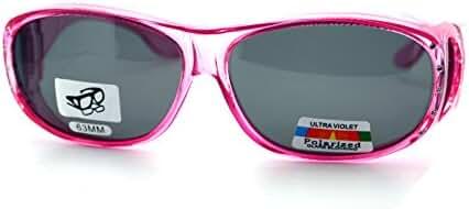 Womens Polarized Fit Over Glasses Rhinestone Sunglasses Oval Rectangular