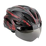 Casco de Ciclismo en Bicicleta, Casco de Protección Vial Integral de Eps Casco de Seguridad de Montaña con Gafas