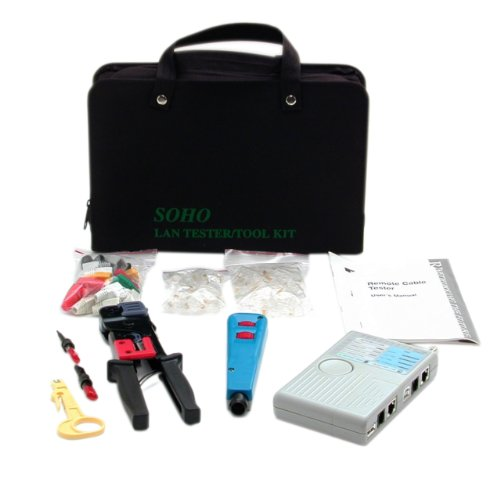StarTech CTK400LAN Professional RJ45 Network Installer Tool Kit with Carrying (Lantest Kit)