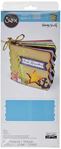 Sizzix Movers and Shapers Die Album with Bracket Edges by Sharyn Sowell, X-Large - Die Bracket