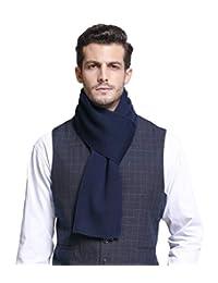 Men's Winter Cashmere Feel Australian Merino Wool Soft Warm Knit Scarf Gift Box