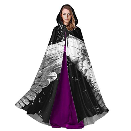 Cemetery Angel Halloween Costume (ZXWXNLA Angel Wing Angel Wings God Religion Cemetery Cloak Adult Adult Cloak Cape 59inch for Christmas Halloween Cosplay)