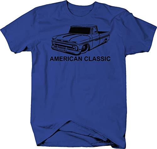 Pickup Fleetside Gmc (American Classic Chevy C10 GMC Fleetside 60-66 Pickup Truck Tshirt - Large)