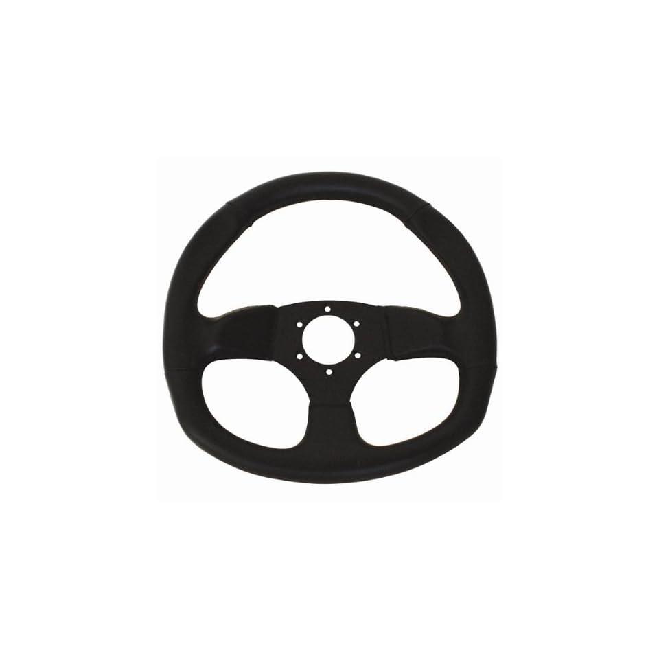 D Shape Race Steering Wheel (Vynyl)   Dragonfire
