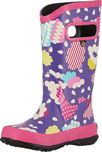 Bogs Kids Baby Girl's Rainboot Clouds (Toddler/Little Kid/Big Kid) Violet Multi 1 M US Little Kid