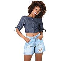 Short Feminino Jeans Puídos