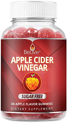 Apple Cider Vinegar Sugar Free Gummies with The Mother – Formulated for Weight Control – Gluten Free, No Glucose Syrup…