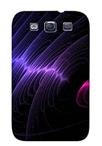 Nice Galaxy S3 Case Bumper Tpu Skin Cove Rwith Circular Waves Design For Thanksgiving Day Gift