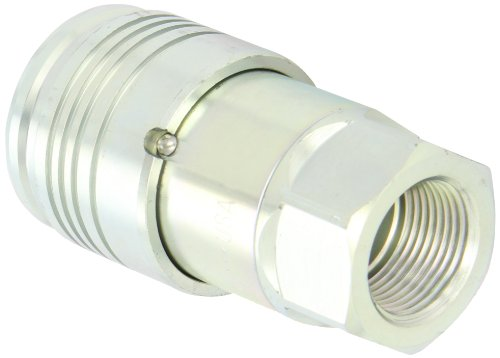 Dixon 8HTF8 Steel Flush Face Hydraulic Quick-Connect Fitting, Coupler, 1'' Coupling x 1''-11-1/2 NPTF by Dixon Valve & Coupling