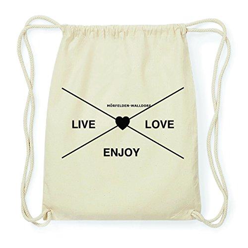 JOllify MÖRFELDEN-WALLDORF Hipster Turnbeutel Tasche Rucksack aus Baumwolle - Farbe: natur Design: Hipster Kreuz vtfR6mGse
