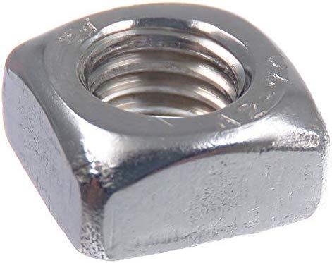 DIN 562 niedrige Form Edelstahl V2A VA A2 20 St/ück SECCARO Vierkantmutter M8