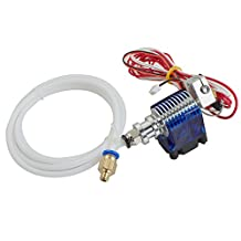 Metal J-Head V6 Hot End Hotend Extruder for RepRap 3D Printer 1.75mm Filament Direct Feed Extruder 0.4mm Nozzle With 12V fan and 1 m PTFE Tube