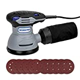 Cheap WORKPRO 5-inch Random Orbit Sander – 12000 RPM, 6 Variable Speed, with High Performance Dust Collector System – Includes 10-piece Sanding Pad – Perfect for House, DIY, Crafting Projects