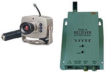 Kescom 803L Color de vigilancia Mini cámara de vigilancia exterior de seguridad, 1A 4 canales