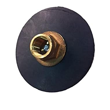 Pro Parts Plus 4  Force Disc Curb Plunger - Reinforced Rubber - 1/2  IPS Brass Holder