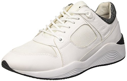 Low D Geox White Omaya a Women's Whitec1000 Sneakers Top qqrwSId