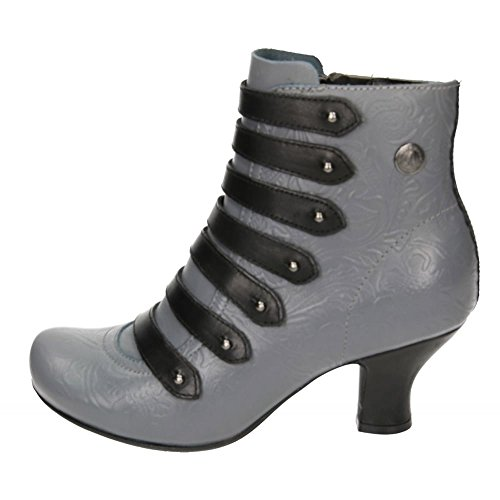Ankle Puppies Verona Grey Heel Boots Mid Tiffin Victorian Leather Hush Flared q8RPaq