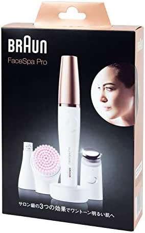 Braun FaceSpa Pro SE 911 (Japan Edition) Facial Epilator 3-in-1 Facial Epilating, Cleansing and Skin Toning System for Salon Beauty at Home with 3 Extras, Rechargeable, Cordless Use, White/Bronze